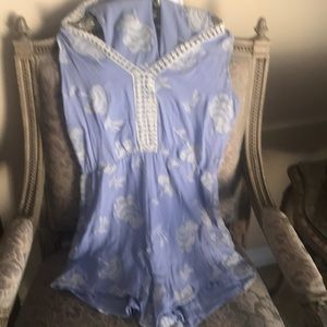 Lush Embroidered Romper size large
